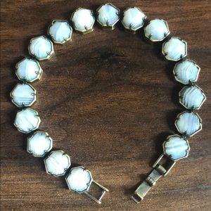 Kendra Scott White Banded Agate Lace Bracelet